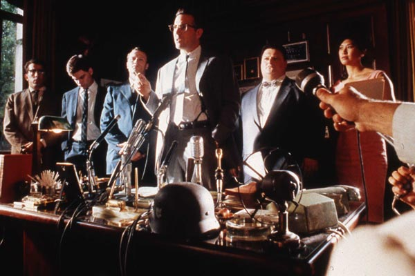 JFK: Wayne Knight, Kevin Costner, Oliver Stone, Michael Rooker