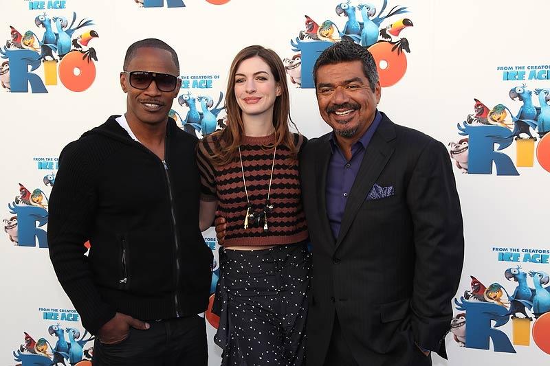 Rio : Fotograf Anne Hathaway, Carlos Saldanha, Jamie Foxx