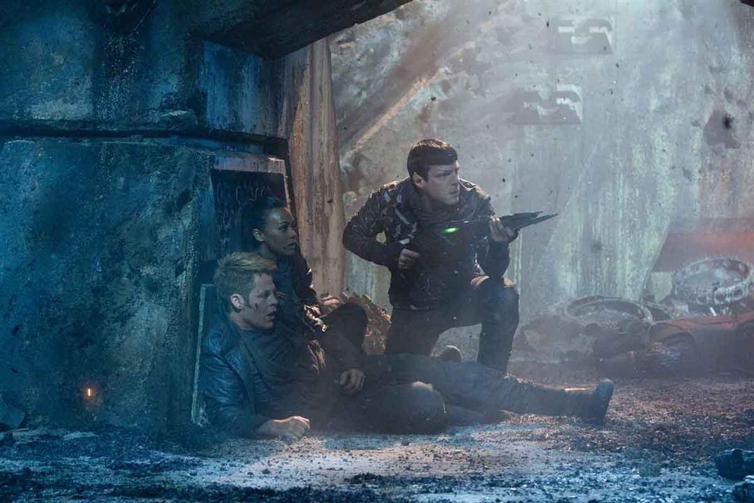 Bilinmeze Dogru Star Trek : Fotograf Chris Pine, Zachary Quinto, Zoe Saldana