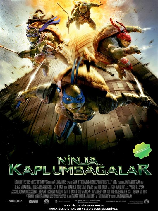 Ninja Kaplumbagalar 3D : Afis