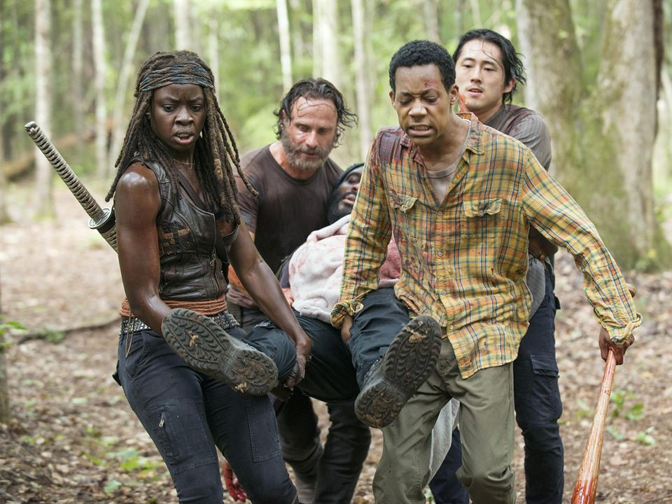 Fotograf Andrew Lincoln, Chad Coleman, Danai Gurira, Steven Yeun, Tyler James Williams