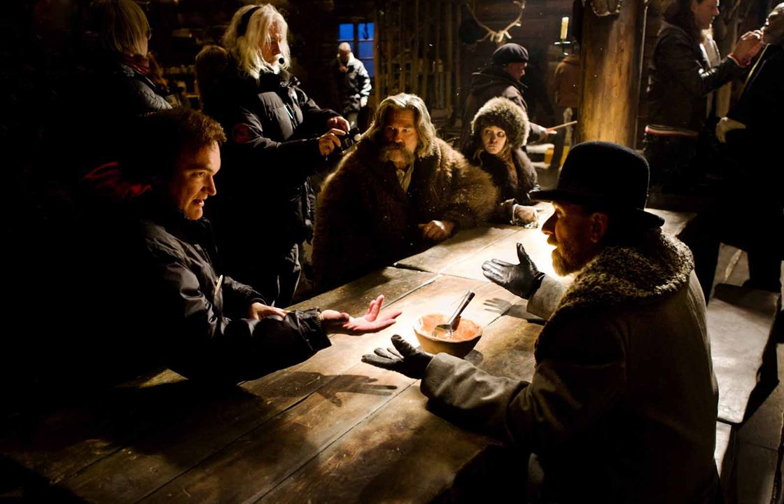 The Hateful Eight : Fotograf Jennifer Jason Leigh, Kurt Russell, Quentin Tarantino, Tim Roth