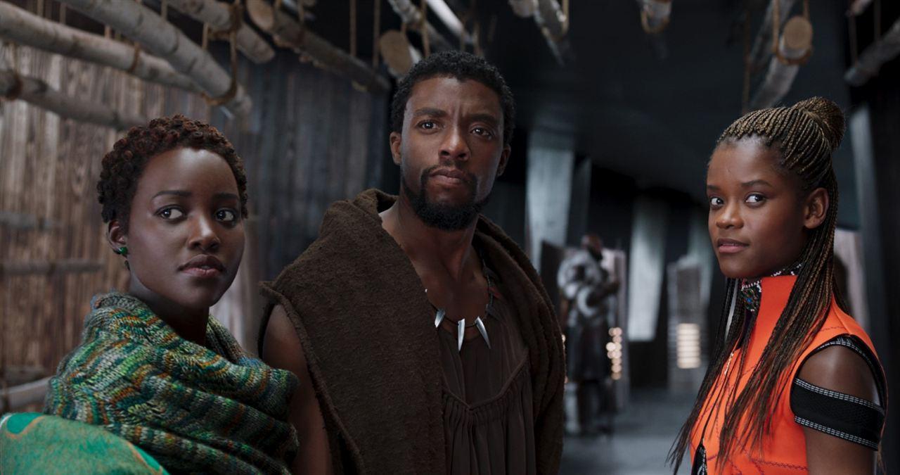 Black Panther : Fotograf Chadwick Boseman, Letitia Wright, Lupita Nyong'o
