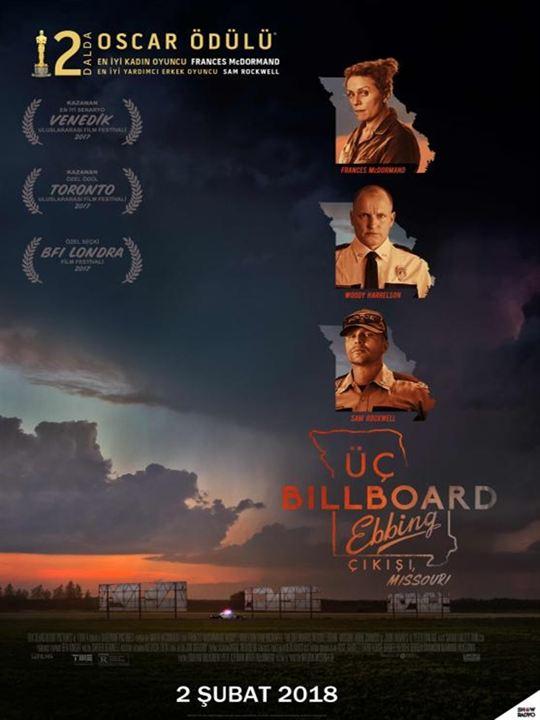 Üç Billboard Ebbing Çikisi, Missouri : Afis
