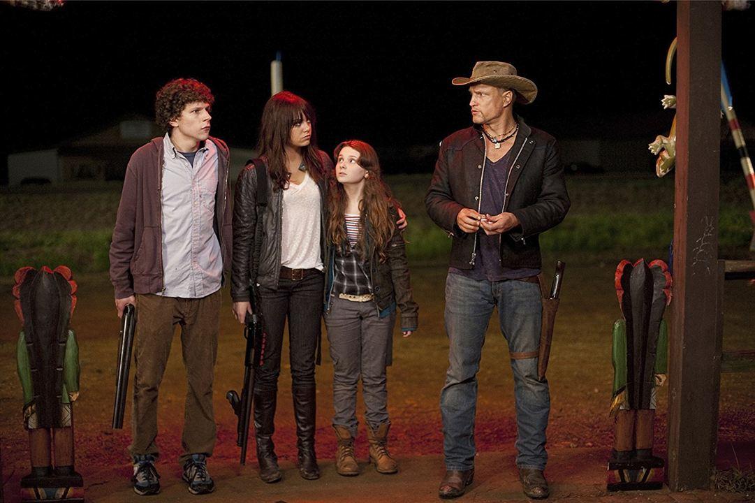 Zombieland : Fotograf Abigail Breslin, Emma Stone, Jesse Eisenberg, Woody Harrelson