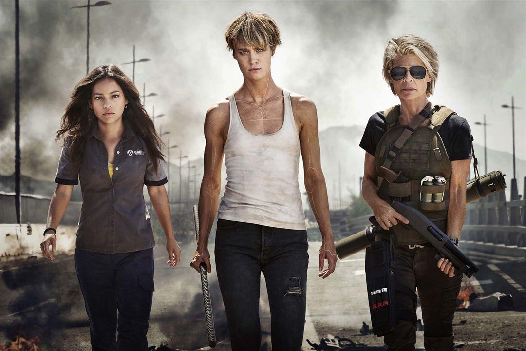 Terminator: Dark Fate : Fotograf Linda Hamilton, Mackenzie Davis, Natalia Reyes