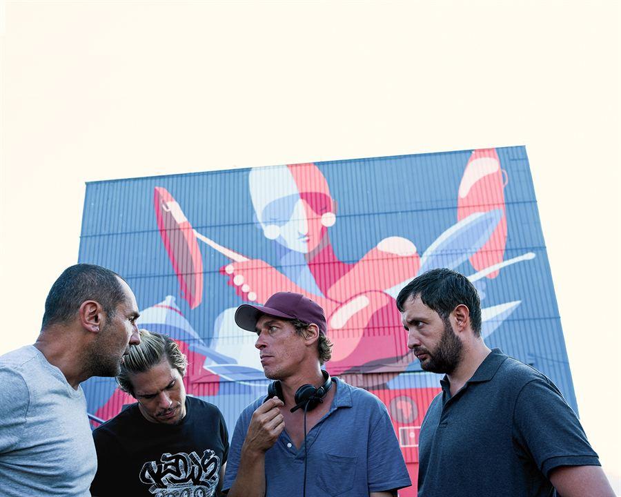 Fotograf Cédric Jimenez, François Civil, Gilles Lellouche, Karim Leklou
