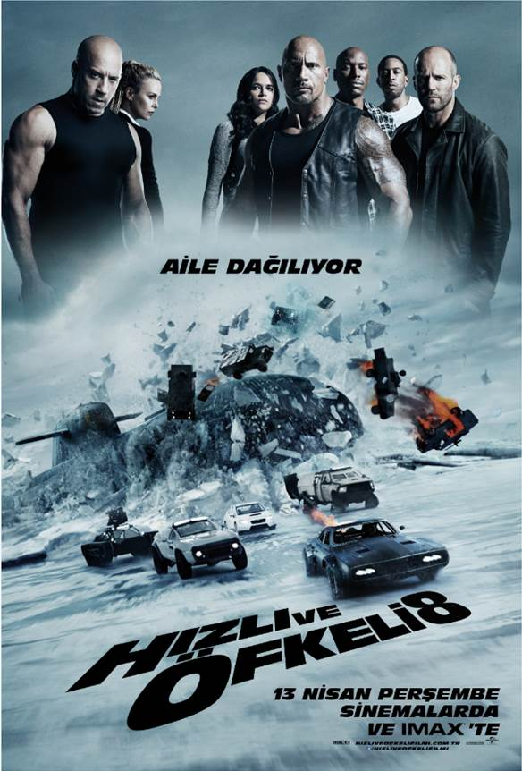 Hızlı ve Öfkeli 8 Filmi Orjinal Türkçe Posteri ve Fragmanı
