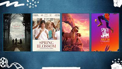"""Vizyondaki Filmler; """"Sessiz Bir Yer 2"""", """"Space Jam: Yeni Efsane"""", """"Spirit: Özgür Ruh"""""""